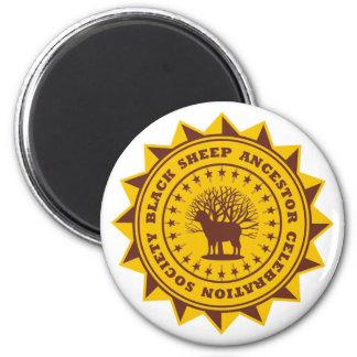 Black Sheep Ancestor Celebration Society 6 Cm Round Magnet