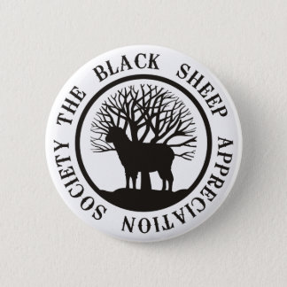 Black Sheep Appreciation Society 6 Cm Round Badge