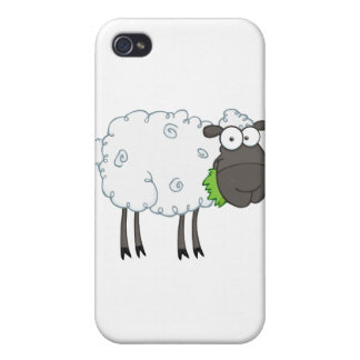 Black Sheep Cartoon Character iPhone 4 Cases
