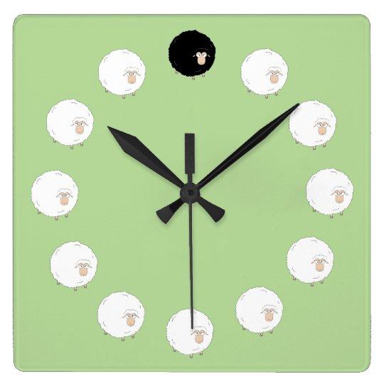 Black sheep clock Pale Green
