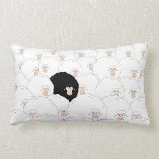 Black sheep lumbar pillow