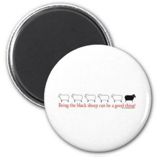 Black Sheep Refrigerator Magnets