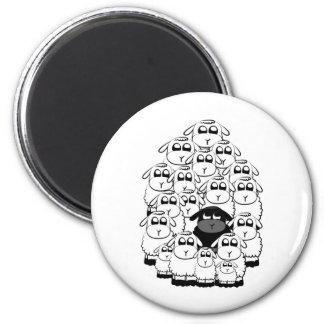 Black sheep refrigerator magnet