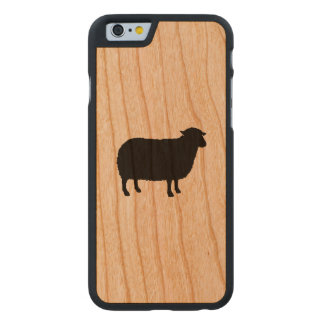 Black Sheep Silhouette Carved Cherry iPhone 6 Case