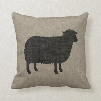 Black Sheep Silhouette Cushion