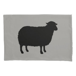 Black Sheep Silhouette Pillowcase
