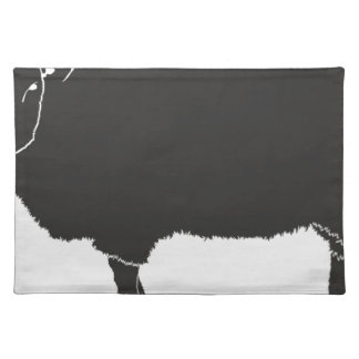 Black Sheep Silhouette Placemat