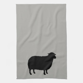 Black Sheep Silhouette Tea Towel