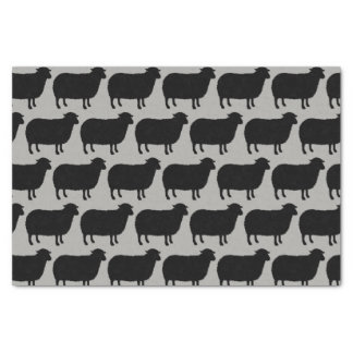 Black Sheep Silhouettes Pattern Tissue Paper