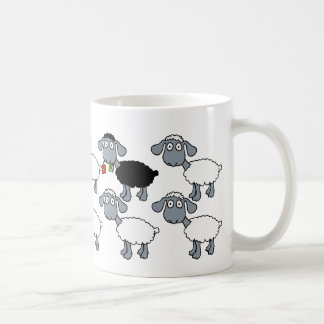 Black Sheep White Flock Standing Out in the Crowd! Coffee Mug