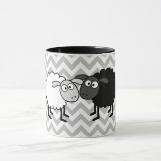 Black Sheep White Sheep Black 11 oz Combo Mug