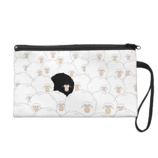 Black sheep wristlet clutches
