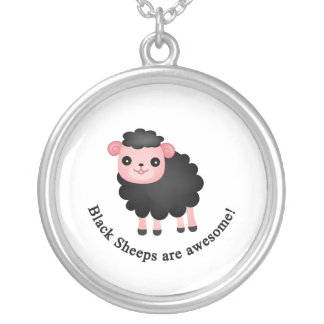 Black sheeps are awesome silver plated necklace