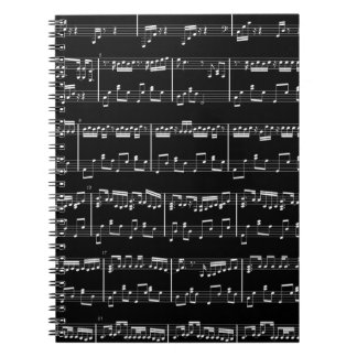 Black Sheet Music Notebook