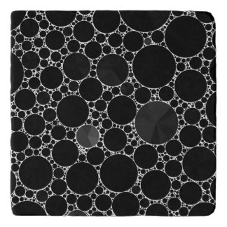 Black Shiny Bling Pattern Trivet