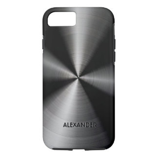 Black Shiny Metallic Design iPhone 7 Case
