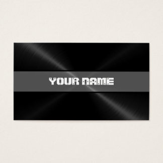 Black Shiny Stainless Steel Metal 5 Business Card