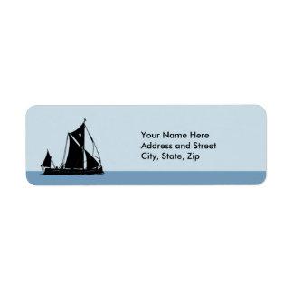 Black Ship Return Address Label