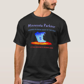 Black Shirt, Minnesota Parkour T-Shirt