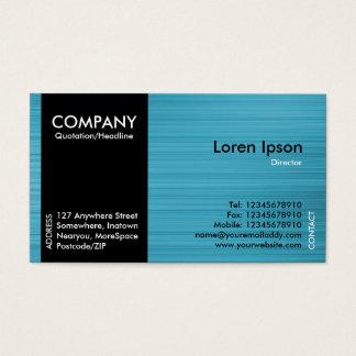 Black SideBand - Light Blue Brushed Tex Business Card