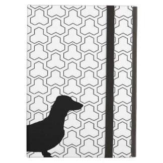 Black Silhouette Dachshund Cover For iPad Air