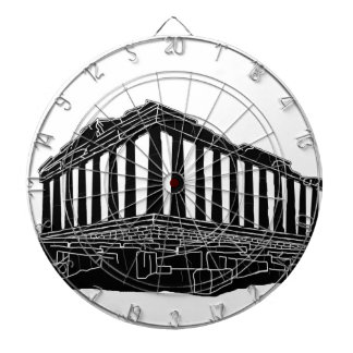 Black silhouette of Parthenon Dart Boards