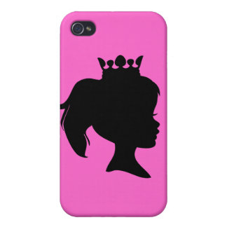 Black Silhouette Princess T-shirts and Gifts iPhone 4/4S Cases