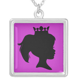 Black Silhouette Princess T-shirts and Gifts Necklace