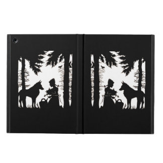 Black Silhouette Red Riding Hood Wolf Woods iPad Air Covers
