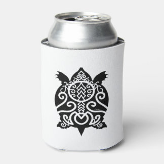 Black Silhouette Snapper Turtle Can Cooler