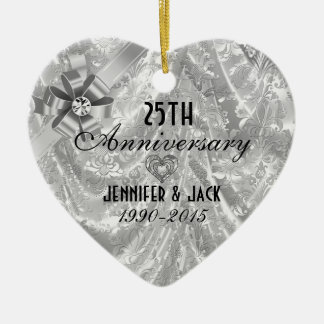 Silver anniversary christmas decorations christmas d cor for Decoration 25th wedding anniversary