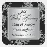 Black, Silver 25th Wedding Anniversary Sticker 2