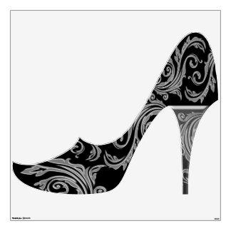 Black silver girly fashion shoe