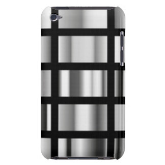 Black Silver Metallic Collage iPod Case-Mate Case