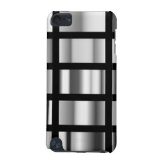 Black Silver Metallic Collage iPod Touch (5th Generation) Cover