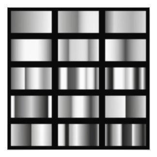 Black Silver Metallic Collage Photo Print