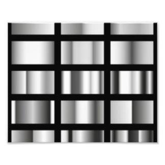 Black Silver Metallic Collage Photograph