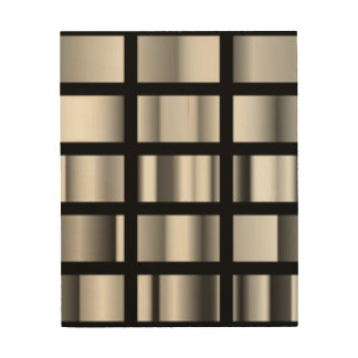 Black Silver Metallic Collage Wood Wall Decor