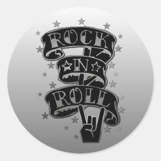 Black & Silver Rock & Roll Logo Stickers 2