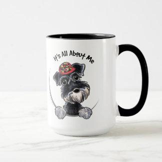 Black Silver Schnauzer IAAM Mug