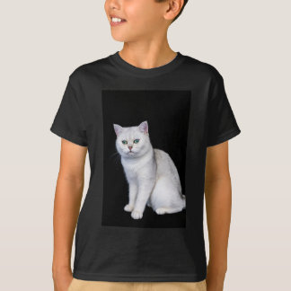 Black silver shaded British short hair cat T-Shirt