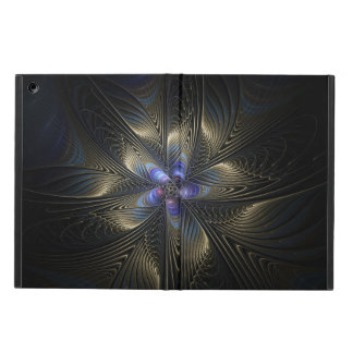 Black & Silver Spirals Abstract Art iPad Air Case