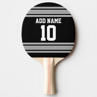 Black Silver Sports Jersey with Your Name & Number