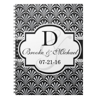 Black & Silver Vintage Art Deco Wedding Notebooks