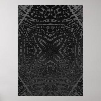 Black Silver Zebra Posters