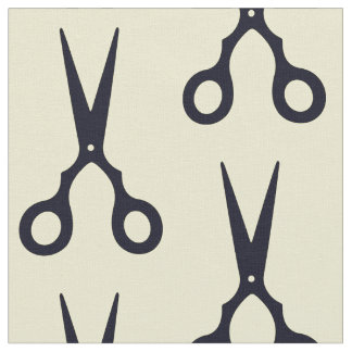Black Simple Hair Scissors (Barber / Hairdresser) Fabric