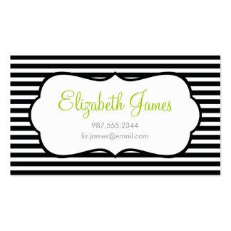 Black Skinny Stripe Business Cards