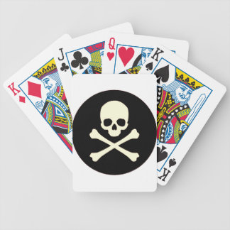 black skull and bones bicycle playing cards