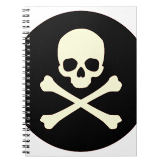 black skull and bones notebook
