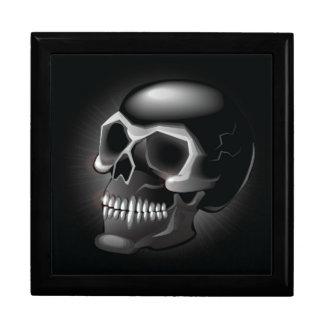 Black skull gift box